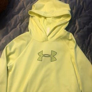 Underarmor Yellow Hoodie Sweatshirt with a Pocket